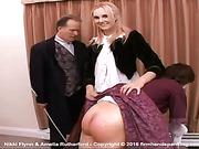 Nikki Flynn's bare bottom is justly punished
