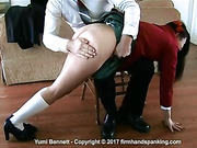 Sound bare bottom spanking for a student