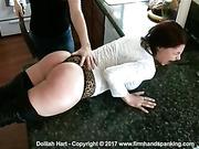A strap teaches petite Dolliah Hart