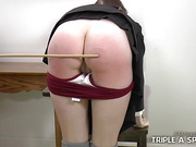 ELLE GETS CANED TO TEARS