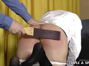 Daddy spanks Audrey