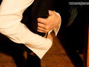 Hard OTK hand spanking