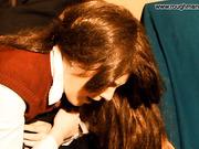 Schoolgirls get hand spanking
