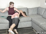 TEARFUL SPANKING FOR A SLACKER