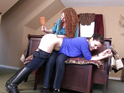The Contest: Audrey's Hairbrush Spanking - Part 1