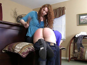 The Contest: Audrey's Hairbrush Spanking - Part 2