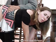 New tutor turns her bottom burning red