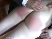 First-ever spanking turns Helen's creamy smooth cheeks