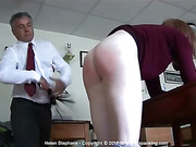 Fabulous creamy bare bottom whipping for stunning Helen