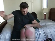 Ripe and ready for a bare bottom spanking