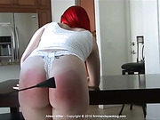 Will a riding crop across her bare bottom test Alison Miller