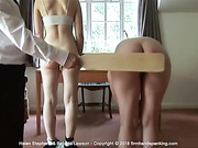 Helen and Belinda's bottoms paddled