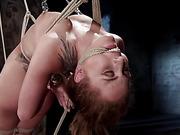 Extreme bondage, brutal torment, and intense orgasm denial