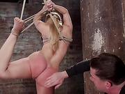 Big Booty Slut in Tight Bondage