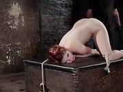 Sexy Spanish Slut Bound with Pain