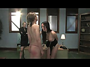 Hardcore lesbian BDSM scene
