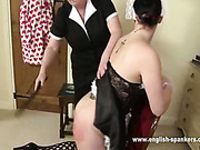 Cool ass babe got OTK spanking from Granny