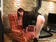 Sexy brunet whore got spanking lesson