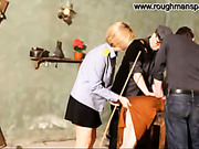 Severe flogging with rattan cane in Russian jail